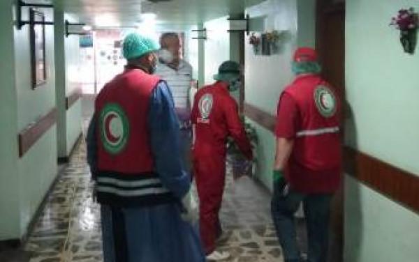 العمل تقوم بحملة لتعفير قسم الضمان في محافظة بابل