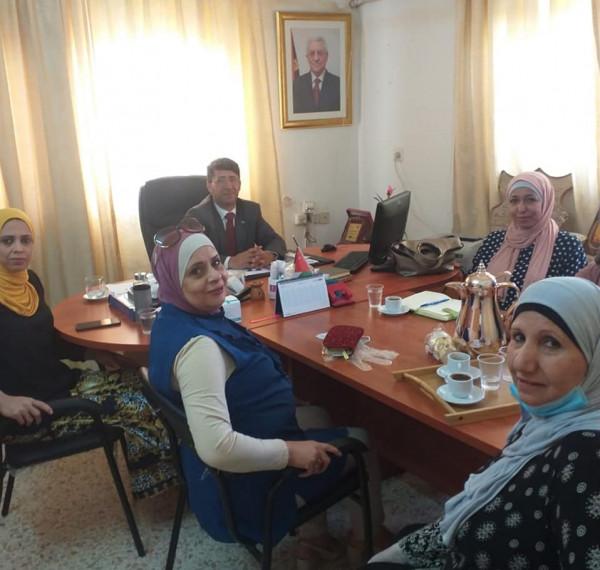 تنمية أريحا واتحاد المرأة يبحثان بناء خطة لتعزيز التعاون