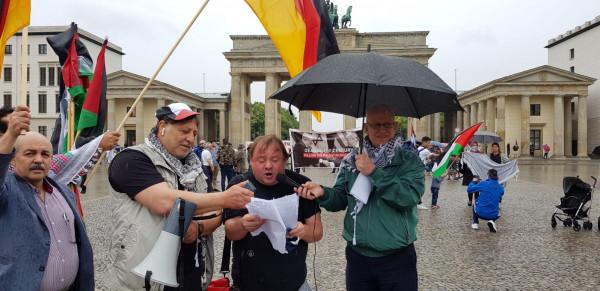 نشطاء وعرب وألمان يستنكرون قرار الضم الإسرائيلي ويطالبون بمعاقبة اسرائيل