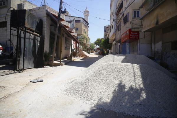 بلدية قلقيلية تباشر اعمال مشروع تأهيل شبكة الصرف الصحي