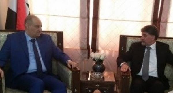 السفير عبد الهادي يطلع وزير الاعلام السوري على آخر مستجدات القضية الفلسطينية