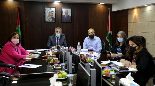 لقاء وزاري تشاوري في وزارة الحكم المحلي بخصوص إقامة مصنع للإسفلت ببيرزيت