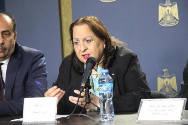 وزيرة الصحة: تسجيل 220 إصابة جديدة بفيروس (كورونا) في محافظات الضفة الغربية