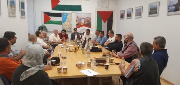 هيئة الجمعيات الفلسطينية في برلين: ندين إعلان دولة الاحتلال ضم أجزاء من الضفة