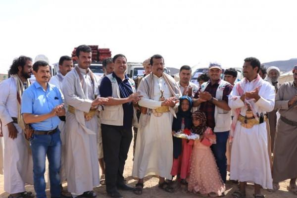 التواصل للتنمية الإنسانية تدشن مشروع الإغاثة العاجلة بافتتاح مخيم إيواء نازحي الجوف