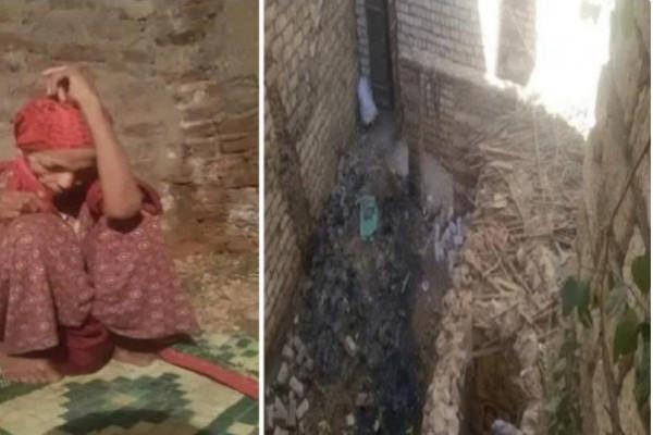صور صادمة لامرأة مصرية حبسها شقيقها 22 عاماً
