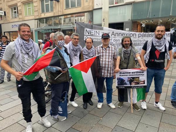النمسا: وقفة احتجاجية ضد خطة الضم الإسرائيلية