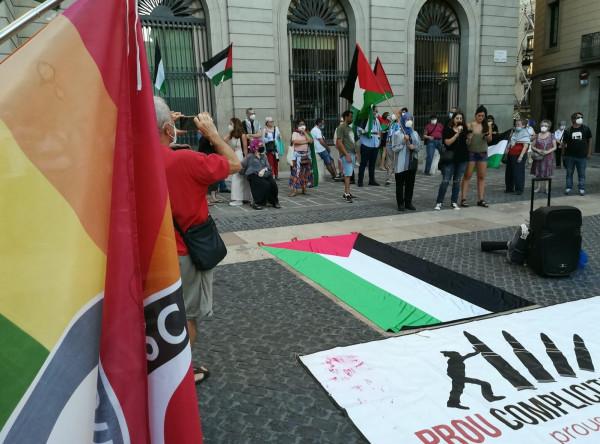 مظاهرة حاشدة في برشلونة رفضا لمشروع الضم الاسرائيلي