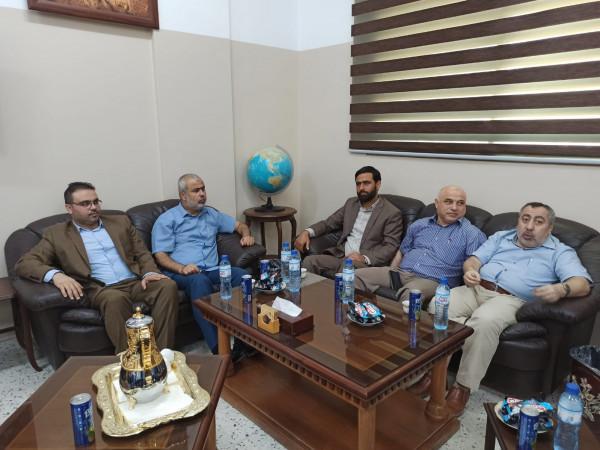 الدائرة الإعلامية لحركة حماس تزور المكتب الإعلامي لحركة الأحرار