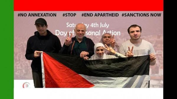 يوم شعبي بريطاني رفضاً لخطة الضم ونصرة لفلسطين