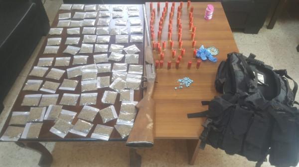 صور: إلقاء القبض على أكبر تاجر مخدرات غرب جنين