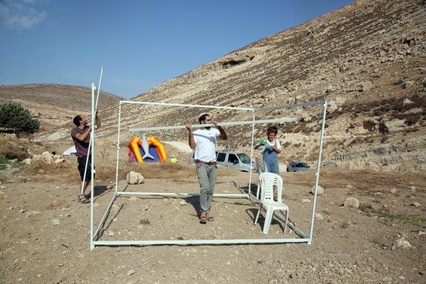 مستوطنون ينصبون خيمة في أراضي بلدة بتير غرب بيت لحم
