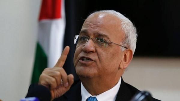 عريقات يوجه رسائل شكر لبرلمانات الدول المؤيدة للحق الفلسطيني