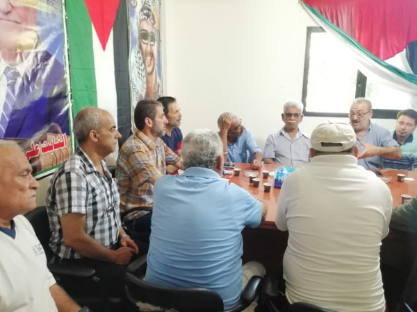 وفد لجان الأحياء والروابط بعين الحلوة يلتقي اللجنة الشعبية للمنظمة بالمخيم