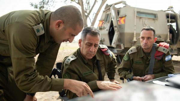 إيداع رئيس الأركان الإسرائيلي وعدد من الضباط في الحجر الصحي