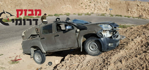 إصابة أربعة جنود إسرائيليين بانقلاب مركبة تابعة للجيش عند الحدود المصرية