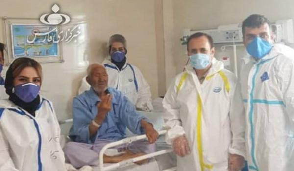 عجوز إيراني بعمر 109 أعوام يتعافى من مرض (كورونا)