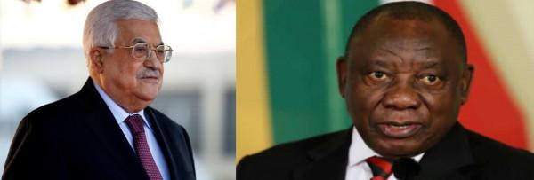 تفاصيل اتصال هاتفي بين الرئيس عباس ونظيره الجنوب إفريقي