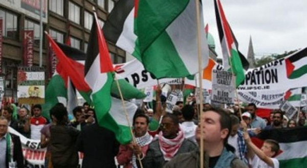 أبناء الجالية الفلسطينية في تكساس ينظمون مسيرة رفضا للضم