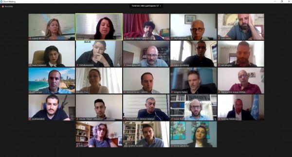 """نقاش عبر الاتصال المرئي بين فلسطينيين وإسرائيليين حول """"دعم جهود بناء السلام"""""""