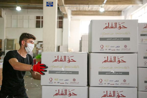 """قطر الخيرية تنفذ المرحلة الثانية لحملة """"حق الشام"""" بالشمال السوري"""