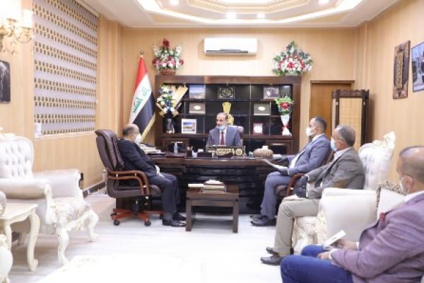 وزير العمل يستقبل رئيس مجلس محافظة بغداد