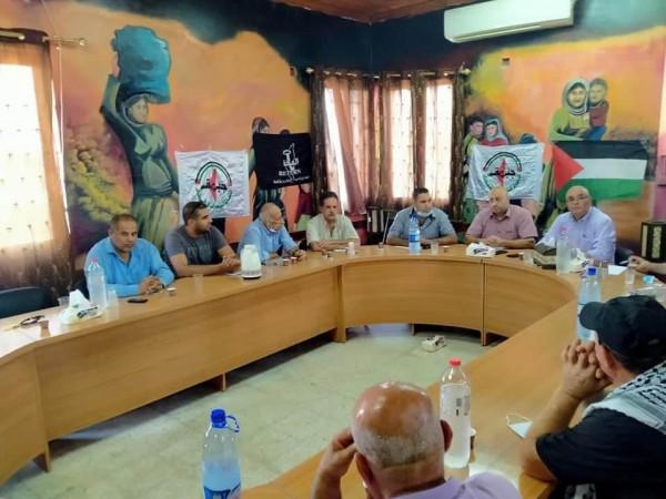 جبهة النضال الشعبي تنظم ندوة سياسية مخيم طولكرم