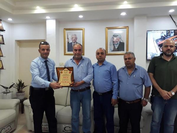 جمعية الصداقة الأردنيه تكرم رئيس بلدية جنين