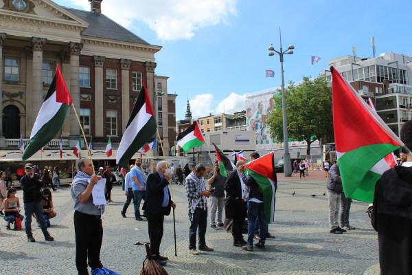حركة فتح إقليم هولندا تشارك في وقفة احتجاجية ضد قرار الضم