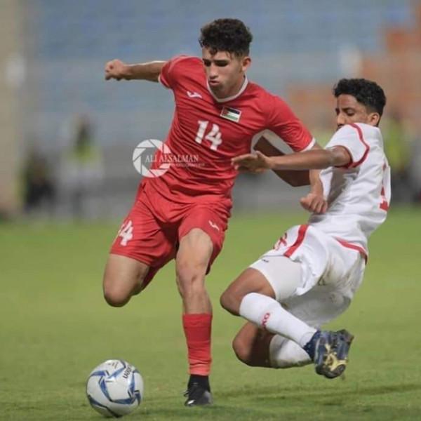 نجم المنتخب الوطني للشباب انس عودة يتمنى تمثيل فلسطين  في المحافل الدولية