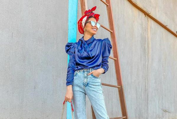 طرق ارتداء التوب القصير للمحجبات من مدونات الموضة