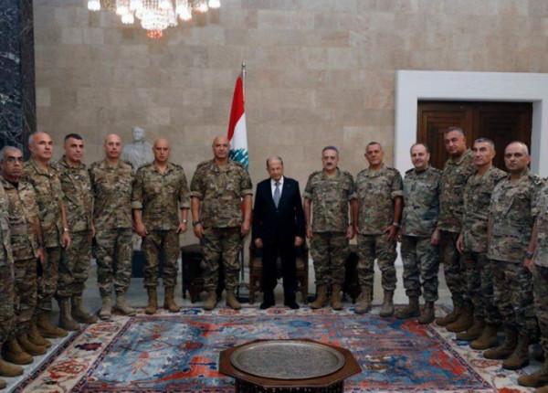 قائد الجيش للرئيس عون: منكم نستلهم الحكمة في كيفية إدارة الازمات