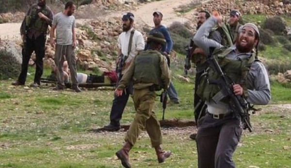 مستوطنون بحماية جنود الاحتلال يهاجمون عائلة الناشط أبو شمسية