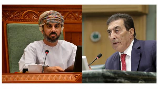 بحر يهاتف رئيسي مجلس النواب الأردني والعماني ويشيد بدورهما بدعم فلسطين