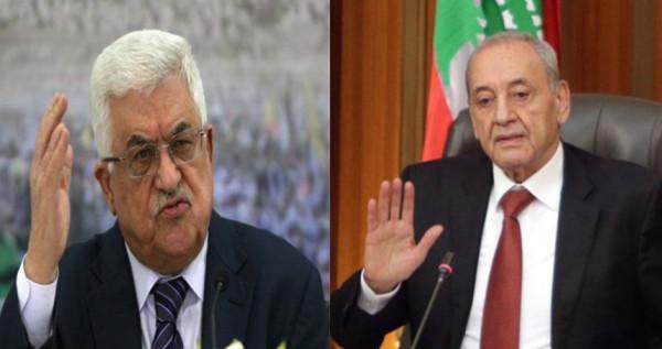 تفاصيل اتصال هاتفي بين الرئيس عباس ونبيه بري بشأن انفجار مرفأ بيروت
