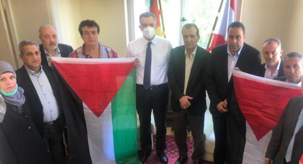 المؤسسات والجمعيات الفلسطينية ببرلين تلتقي سفير الجمهورية اللبنانية في ألمانيا