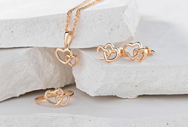 صور: مجوهرات عروس على شكل قلب