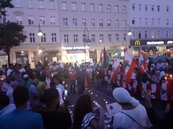 وقفة تضامنية مع الشعب اللبناني الشقيق في العاصمة الألمانية برلين