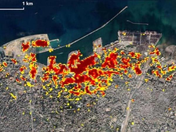 (ناسا) تنشر صورًا تكشف حجم كارثة انفجار مرفأ بيروت