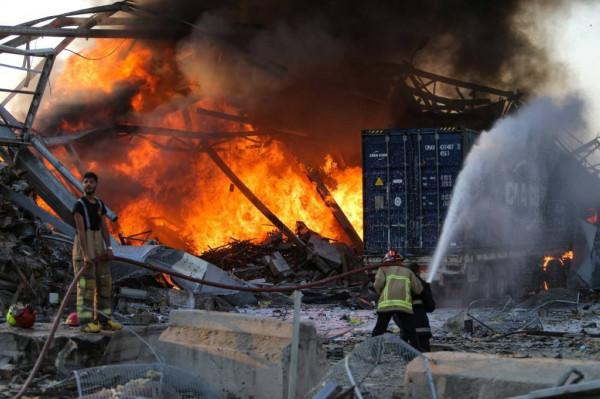 مصدر أمني لبناني: الانفجار الهائل بمرفأ بيروت أحدث حفرة بعمق 43 متراً