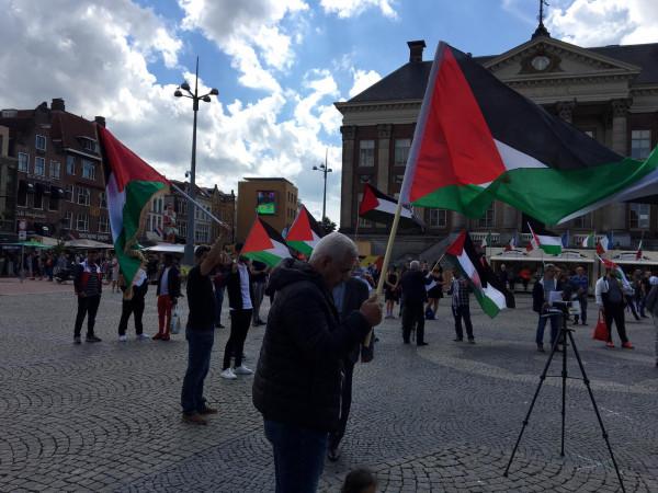 وقفة تضامنية حاشدة مع الشعب الفلسطيني في هولندا