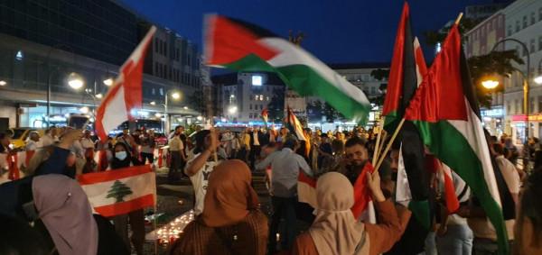 وقفة تضامنية وإضاءة الشموع  في برلين مساندة للبنان