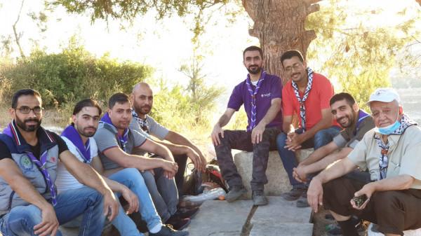 قادة خليل الرحمن الكشفية يجتمعون في منطقة لوزة