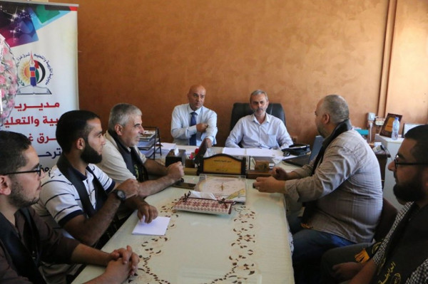 تعليم شرق غزة يؤكد علي الشراكة المجتمعية لخدمة الطلبة والمعلمين