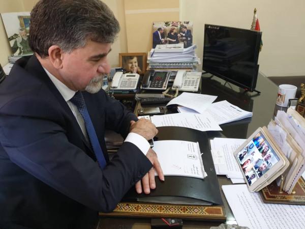 عبد الهادي يؤكد ضرورة استمرار تفعيل مكاتب المقاطعة الإقليمية لإسرائيل بالدول العربية
