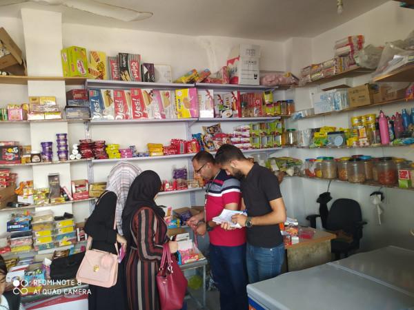 """""""الاقتصاد"""" بغزة تُحرر 60 محضر ضبط وإتلاف لبضائع منتهية الصلاحية"""