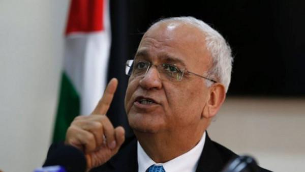 عريقات يُطالب الأمين العام للجامعة العربية بإدانة الاتفاق الإسرائيلي الإماراتي أو الاستقالة
