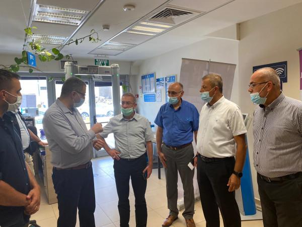 السعدي في جولة ميدانية هامة مع مدير عام التأمين الوطني في الناصرة