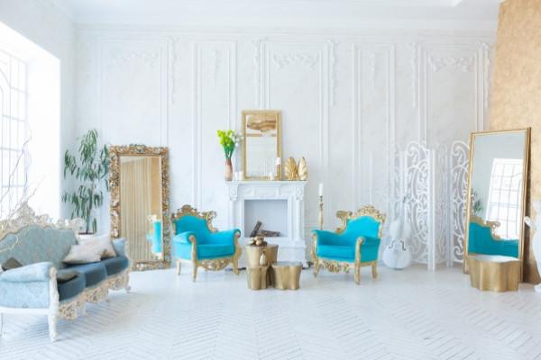 غرف صالون كلاسيكية فخمة