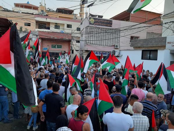 اعتصامات ومسيرات غاضبة في مخيمات لبنان تأكيد على المقاومة والوحدة وتنديد بالتطبيع